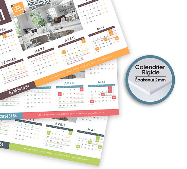 calendrier Bancaire A4 RIGIDE - Photo 2