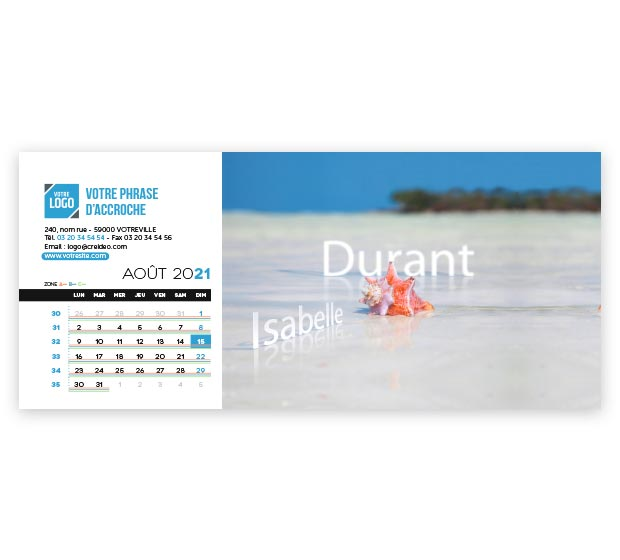 calendrier Allongé nominatif - Photo 14