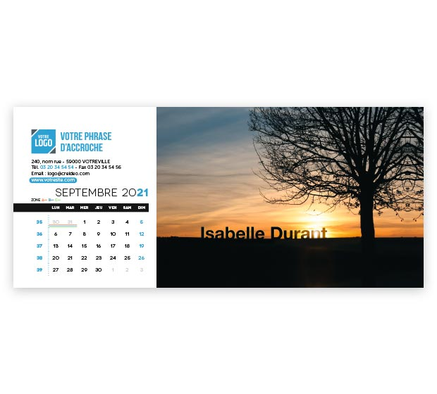 calendrier Allongé nominatif - Photo 15