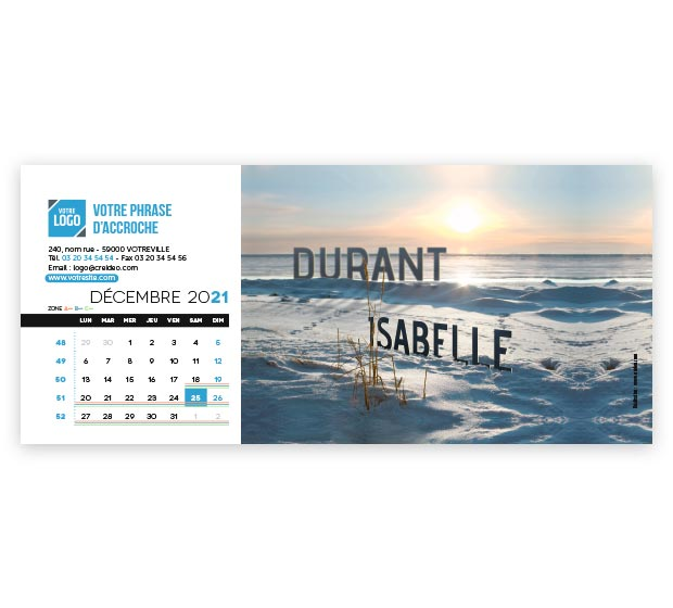 calendrier Allongé nominatif - Photo 18
