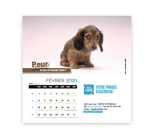 Calendrier Carré - Photo 8