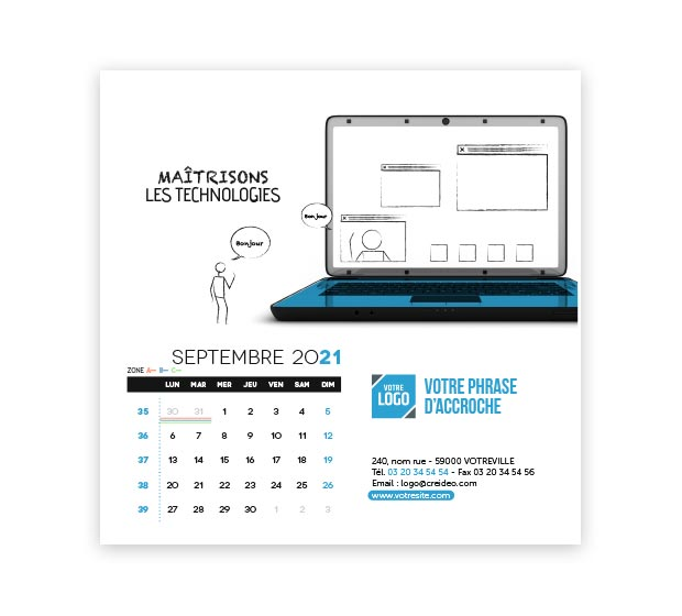 calendrier Carré - Photo 15