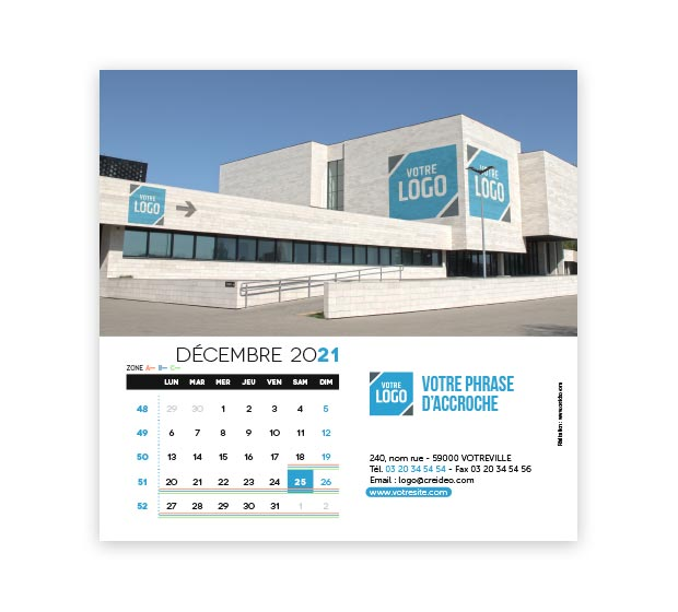 calendrier Carré logo - Photo 18
