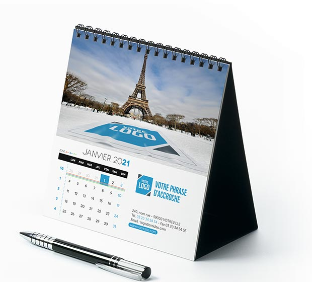 calendrier Carré logo - Photo 1