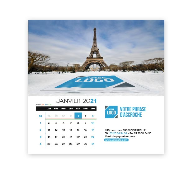 calendrier Carré logo - Photo 7