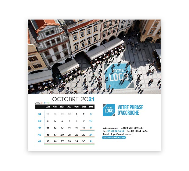 calendrier Carré logo - Photo 16