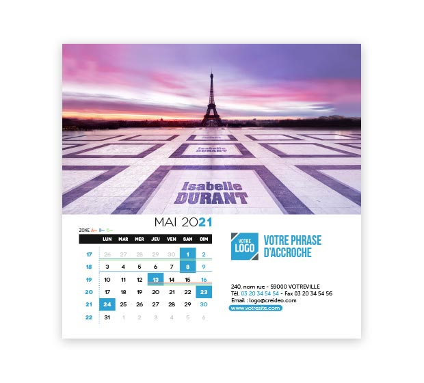 calendrier Carré Nominatif - Photo 11