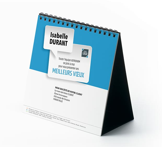 calendrier Carré Nominatif - Photo 2
