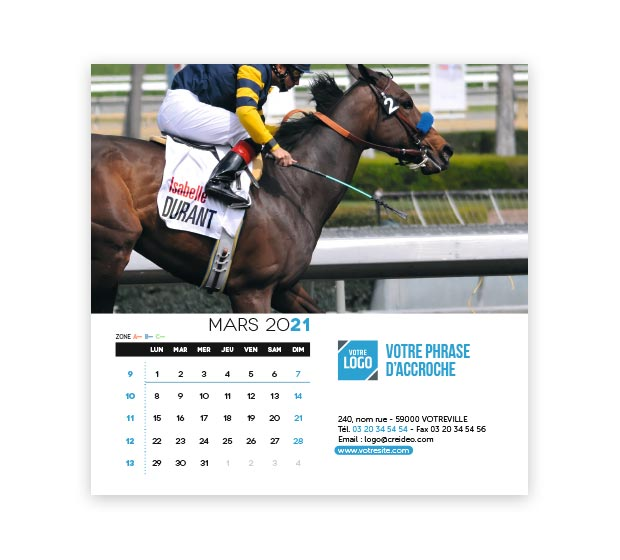 calendrier Carré Nominatif - Photo 9