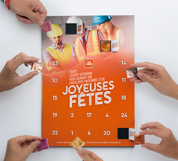 carte Calendrier de l'avent - Photo 1